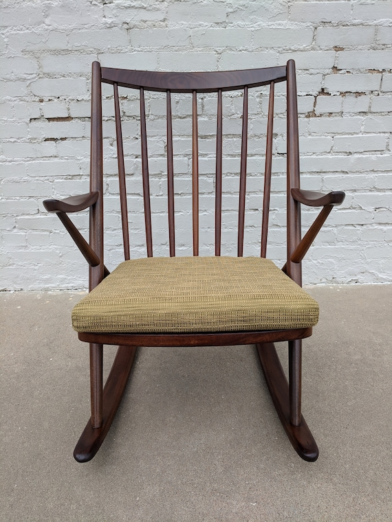 Mid Century Modern Danish Teak Rocking Chair by Frank Reenskaug