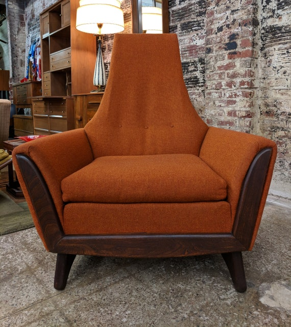 Mid Century Modern Adrian Pearsall Inspired Highback Lounger