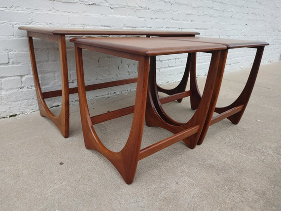 Mid Century Modern G Plan Coffee Table and Nesting Set
