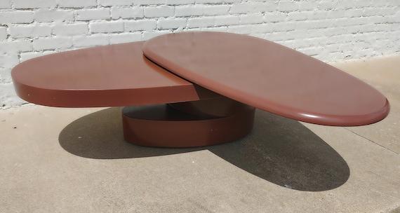 Modern Acrylic Teardrop Swivel Table