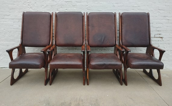 American Studio Craft Wendell Castle Inspired Chairs Set of Four