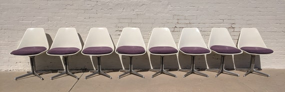 Mid Century Modern Burke Tulip Chair Set of Four