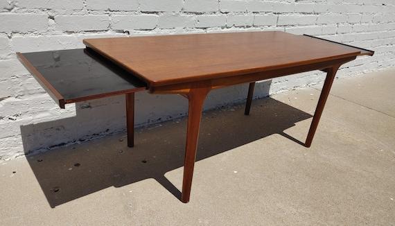 Mid Century Modern Teak Extendable Table by McIntosh