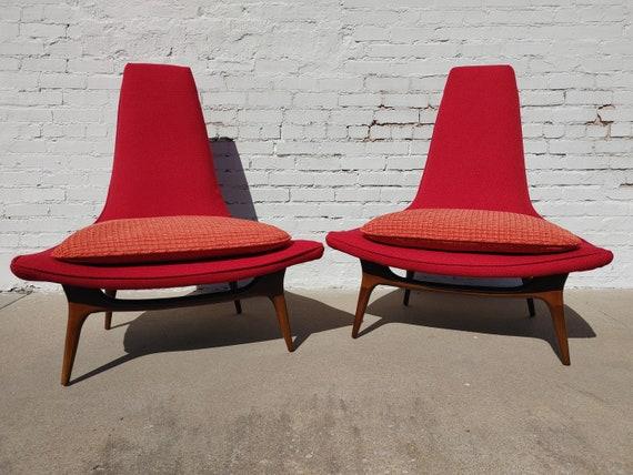 Mid Century Modern Karpen/Schnadig High Back Chairs