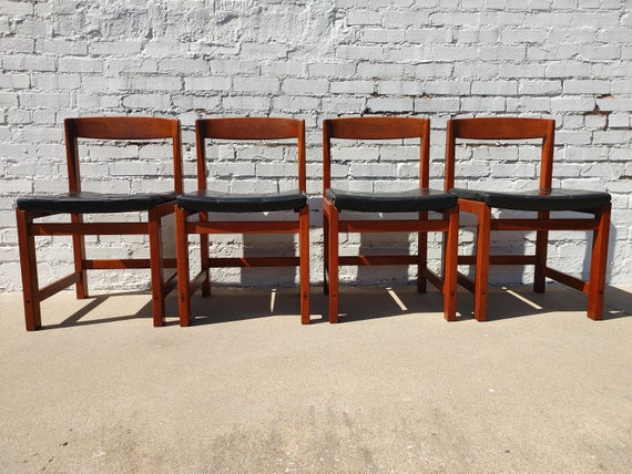 Mid Century Modern Danish Inspired Teak Dining Chairs