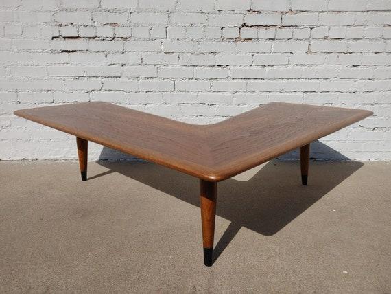 Mid Century Modern Lane Acclaim Boomerang Coffee Table