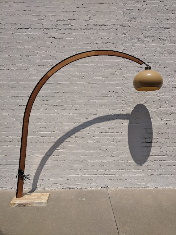 Mid Century Modern Nova of California Arched Walnut Lamp