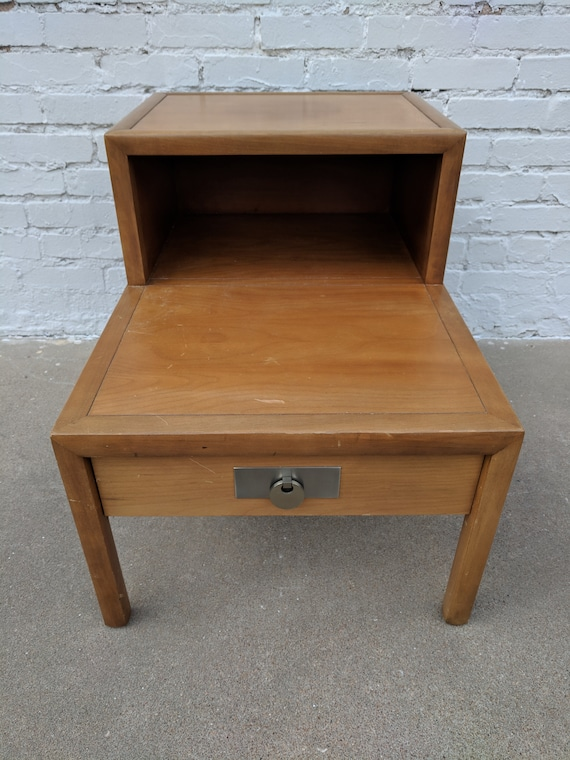 Mid Century Modern Baker Furniture Solid Wood Side Table