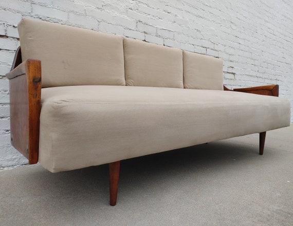 Mid Century Modern Danish Inspired Bentwood Sofa
