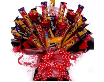 Celebrations Chocolate Bouquet Chocolate Bouquet With Milk Etsy