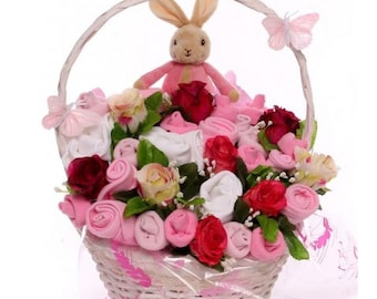 Luxury Flopsy Bunny Baby Bouquet.
