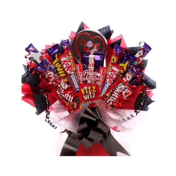 I Love You Chocolate Bouquet Chocolate Valentine S Day Etsy