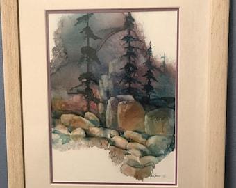 "Framed Original Adin Shaw Watercolor 24"" x 30"""