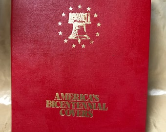 1776 - 1777 American Bicentennial First Day Covers Album -  18 Covers
