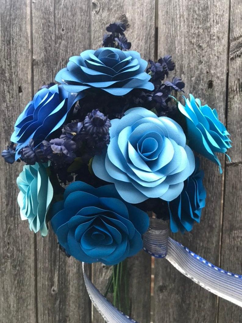 Ombre Paper Rose Boquet Blue