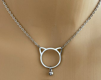 Bronze heart locket Gift valentines day kitten play collar