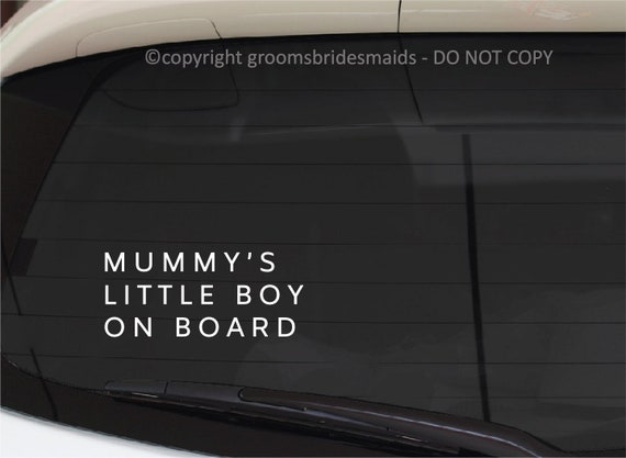 mummy`s boy kids baby on board car//van//bumper//window sticker vinyl sign decal