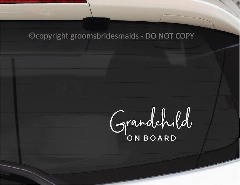 Baby on board Child on board Grandchild on board Car Decal Vinyl Bumper sticker Bumper Decal Nanna Grandpa Poppy Gift Car Decal Grandparents