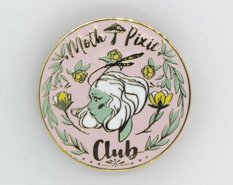 Moth Pixie Club Pin