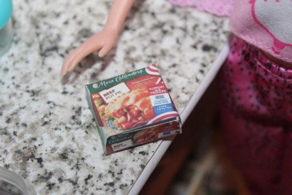 DOLLHOUSE Miniatures Size Frozen Beef Pot Pie Box