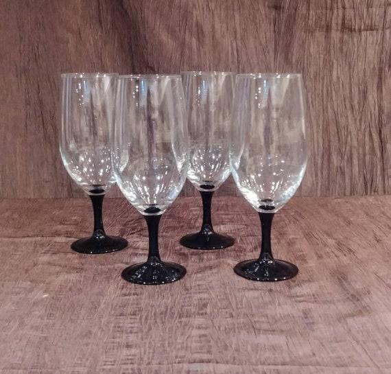 Ensemble de 4 verres à vin cristal noir Cristal d'Arques Durand Domino Signature, livraison gratuite