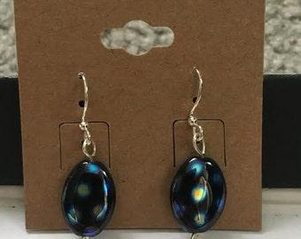 Blue Multicolored Dangle Earrings, Jewelry
