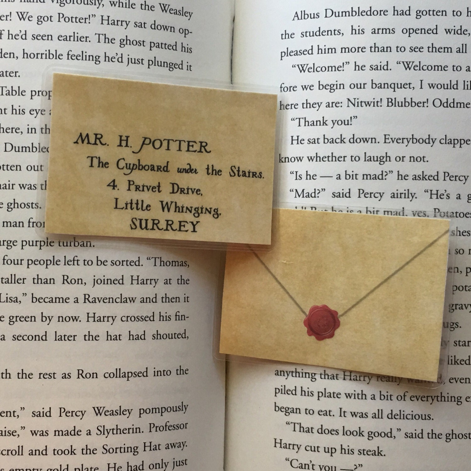 Harry Potter beidseitig kleine Bookmark Brief von Hogwarts