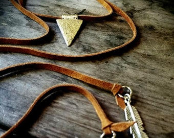 Leather Wrap Necklace