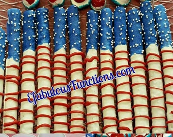 4th of July, Chocolate Covered Pretzels