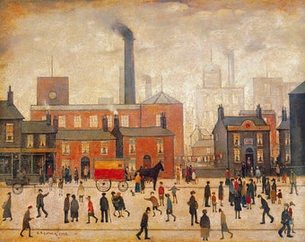 L S Lowry Coming Home from the Mill