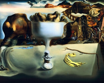 Salvador Dali Apparition of a Face and Fruit-Dish