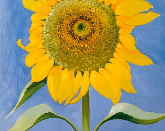 Georgia O'Keeffe Sunflower, New Mexico, 1935