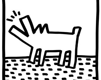 Keith Haring Untitled, (barking dogs)