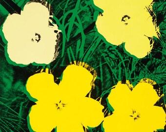 Andy Warhol Flowers, c.1964 (4 yellow)