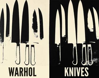 Andy Warhol Knives, c.1981-82 (cream & black)