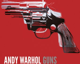 Andy Warhol Guns, c.1981-82 (white and black on red)