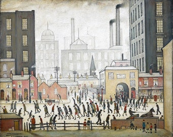 L S Lowry Coming From The Mill, 1930