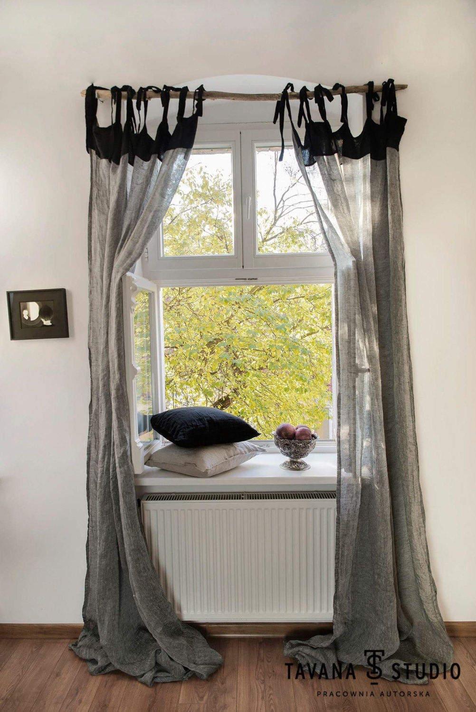 Reine Leinen Gardinen Leinen Vorhänge Cafe Vorhänge Küche