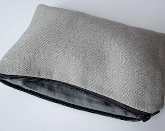 Linen Zipper Pouch, Linen Cosmetic Bag, Zipperd Linen Organiser, Pencil Pouch, Women Purses,