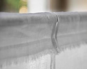 White Linen Kitchen Curtains, Custom Made Burlap Cafe Curtain, Linen White Cafe Curtain, Window Kitchen Curtain, Pair Cafe Curtain