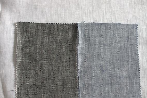 Solid color Handwoven Ramie Fabric Noren