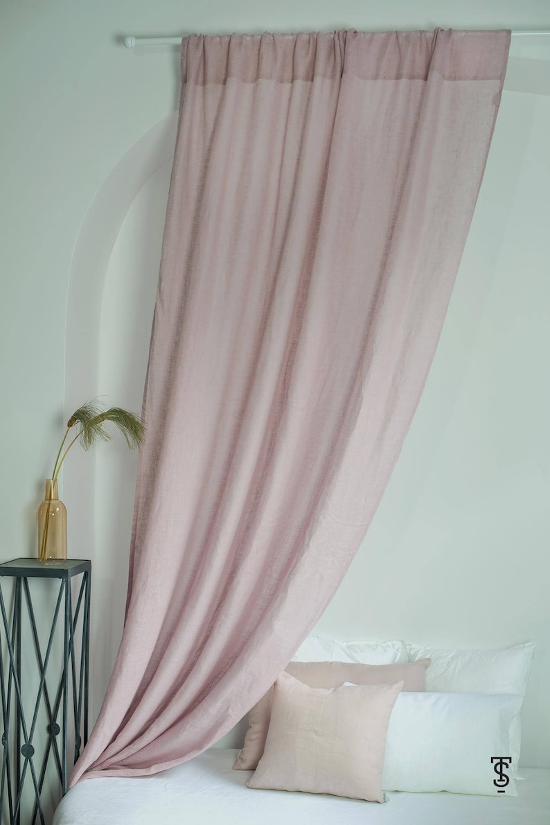 image 0 & Linen Canopy Bed Panel 57 x 118 Canopy Bed   Etsy