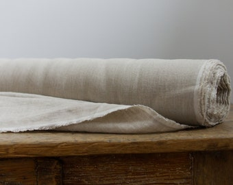 Natural Linen Fabric, Washed Linen Fabric, Linen For Curtains, Eco Friendly Linen Fabric, Linen Flax by Meter, Natural Rustic Linen
