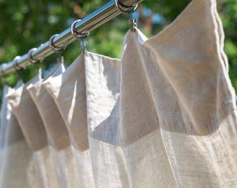 Curtain Panels, Custom Curtains, Linen Curtain Panels, Rod Pocket Curtains Panels , Sheer Linen Panels, Natural Linen Drapes, Curtain Panel