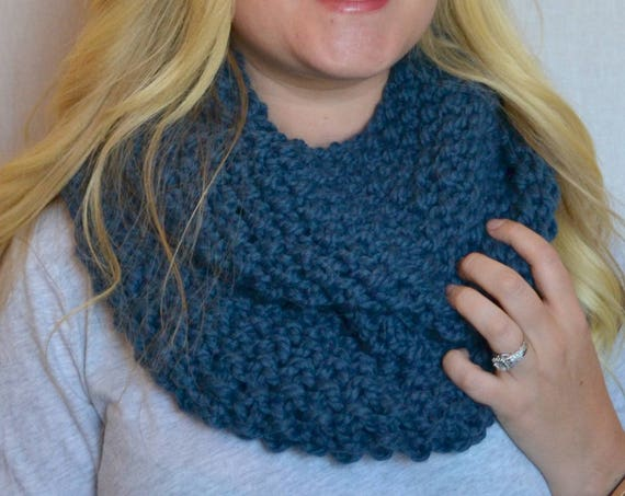 Penny Cowl in Demin Infinity Scarf