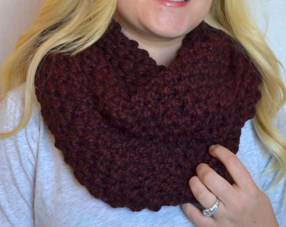 Penny Cowl in Claret Infinity Scarf