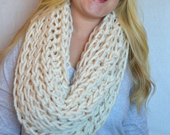 Leonard Cowl in Fisherman Knitted Cowl Infinity Scarf