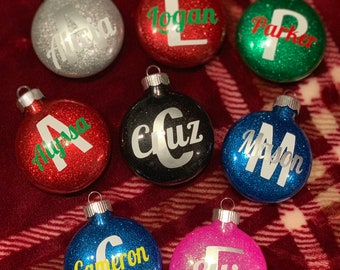 """PersonalIzed Ornaments approximately 2.5-3"""" shatter proof plastic disc ornaments."""