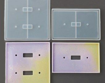 Light Switch Cover Plate Resin Silicon Molds (Set of 2)