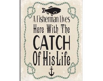 Walleye All Fun /& Games Rustic Wall Sign Plaque Gifts Men Fishing Fishermen